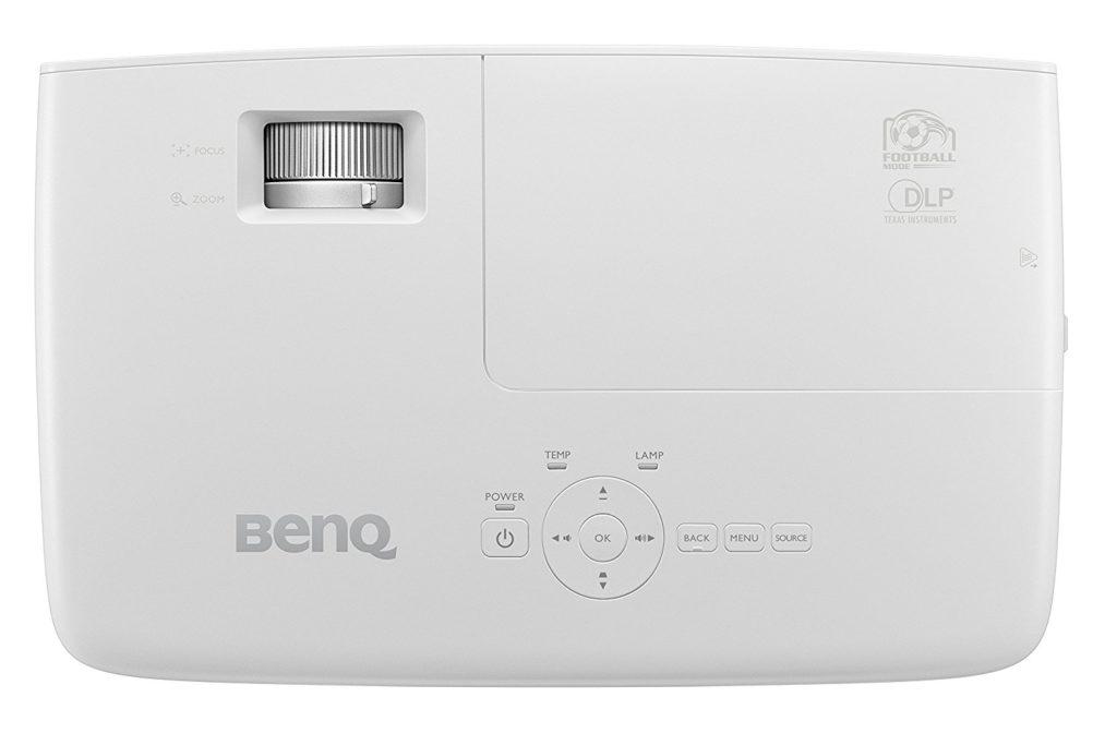BenQ W1090 Projecteur de divertissement familial Spécial Sports 1080p vue dessus