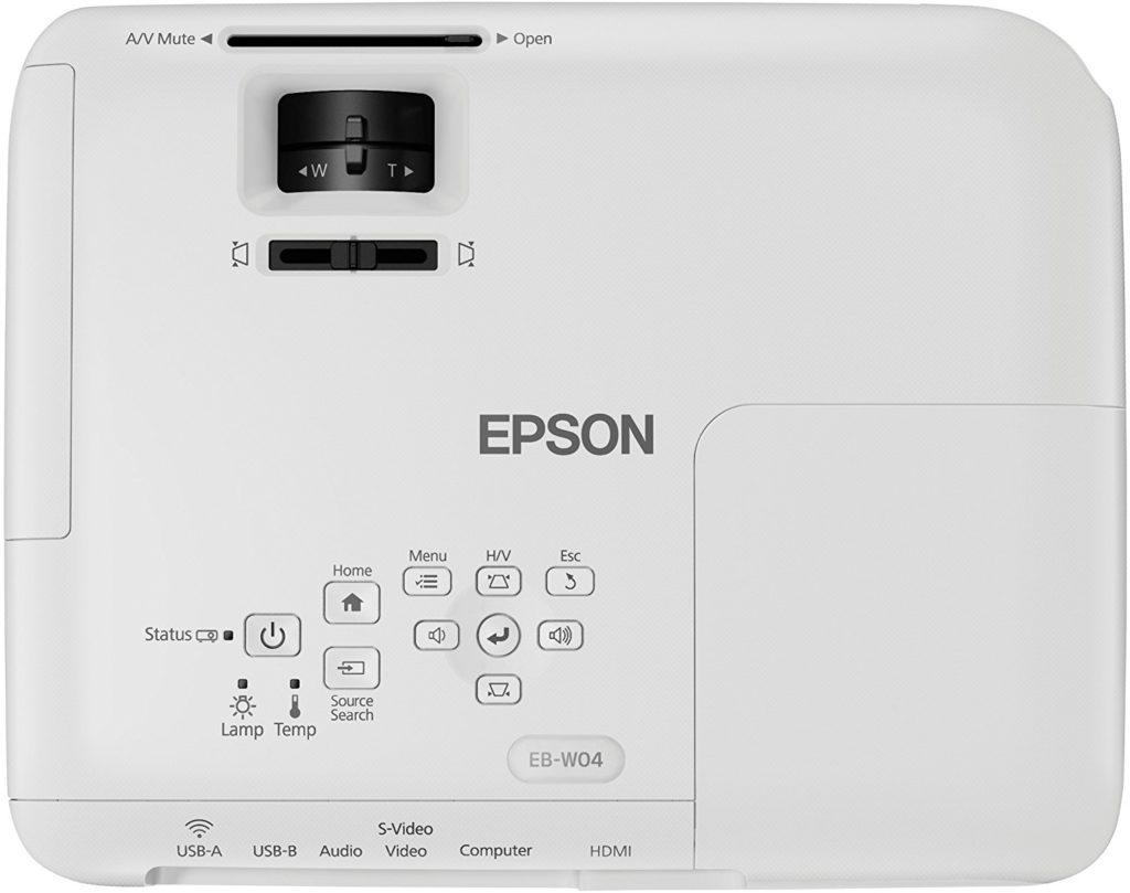 Epson EB 3LCD Vidéoprojecteur vue dessus