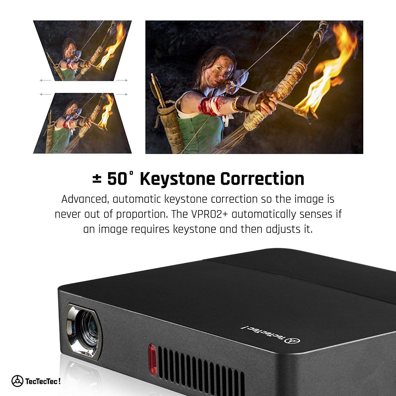 TecTecTec VPRO2+ Pico Projecteur HD 3D qualité d'image