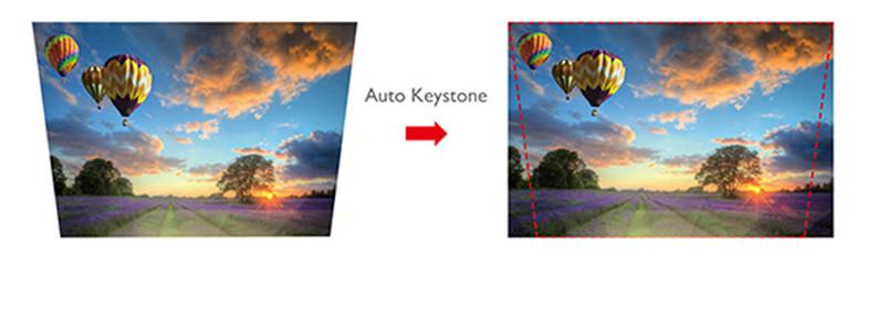 Videoprojecteur - l'option Auto Keystone