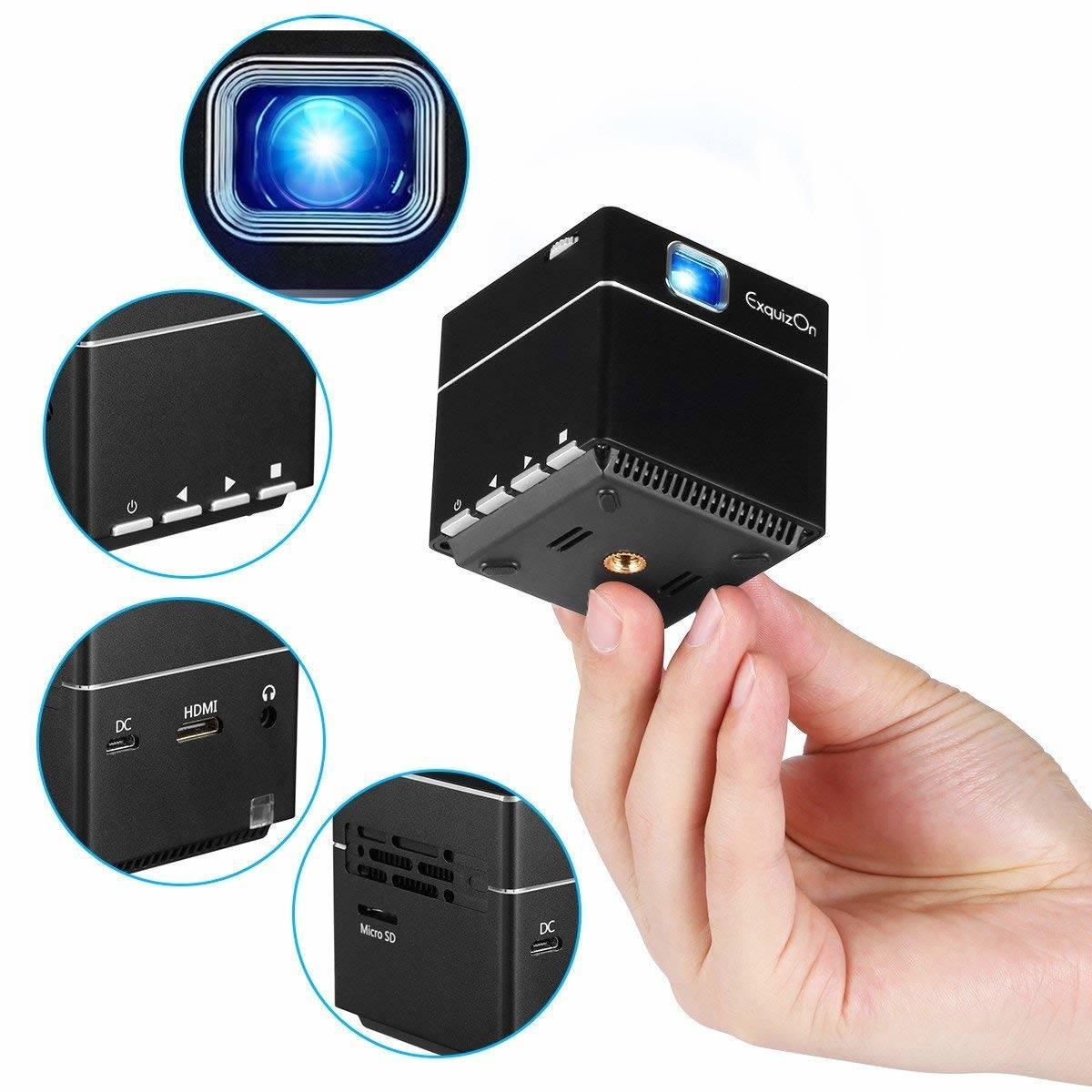 ExquizOn Mini Vidéoprojecteur HD, S6 Projecteur DLP 1080P