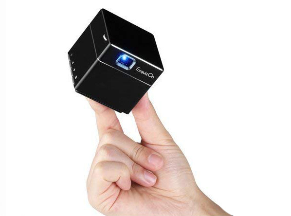 ExquizOn Mini Vidéoprojecteur HD - pico projecteur ultra portable