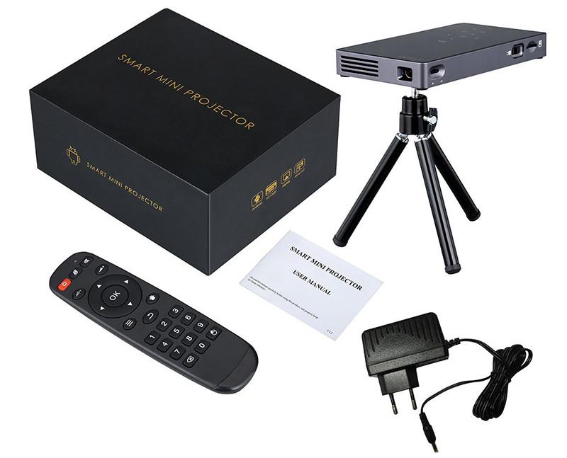 ExquizOn P8I Mini Vidéoprojecteur DLP Android
