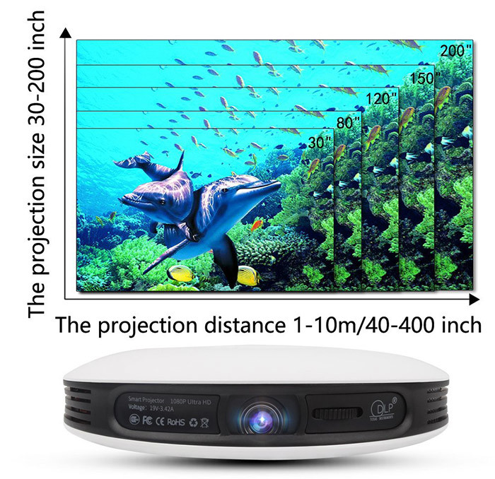 S-9 Pico Projector 1080p HD Video Qualité d'image