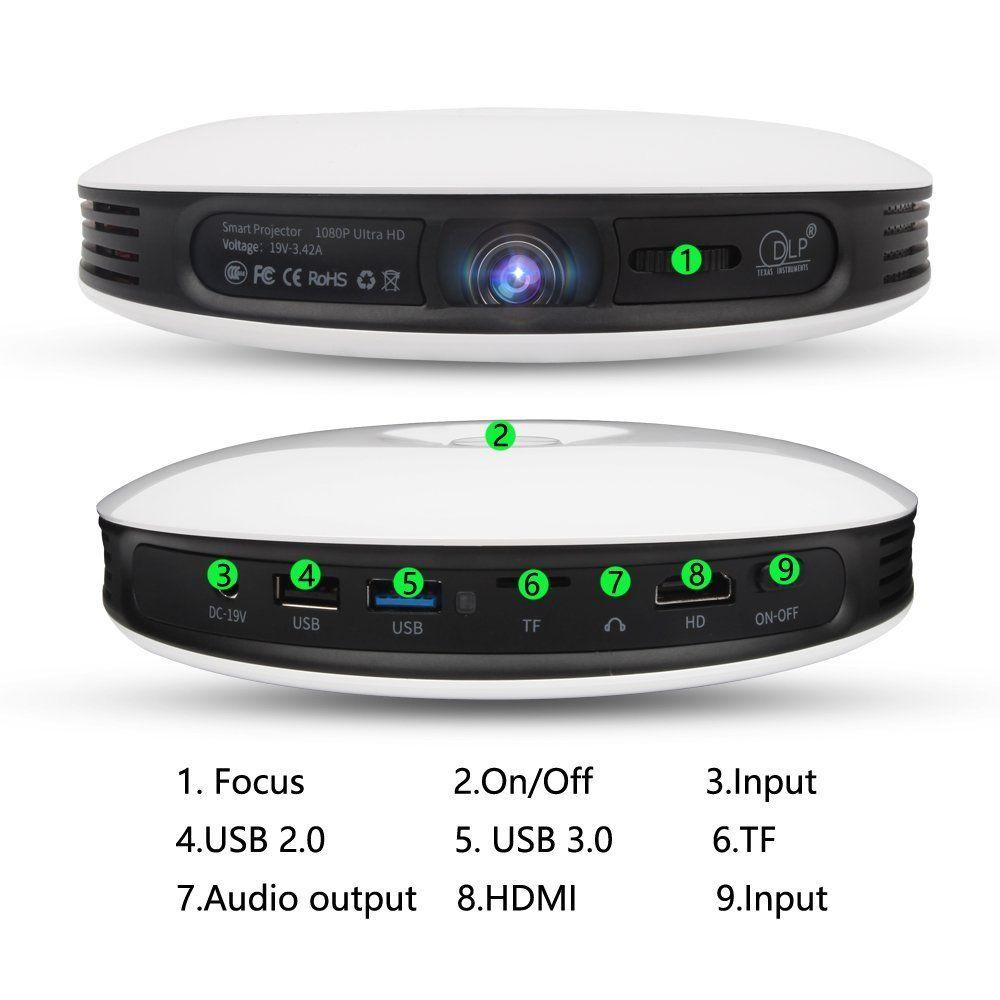 S-9 Pico Projector 1080p HD Video with DLP 150 Lumen, Mini HDMI