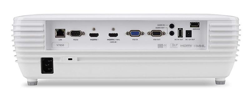 Vidéo-projecteur Acer Home V7850 2200ANSI Lumens DLP 2160p (3840x2160) Blanc
