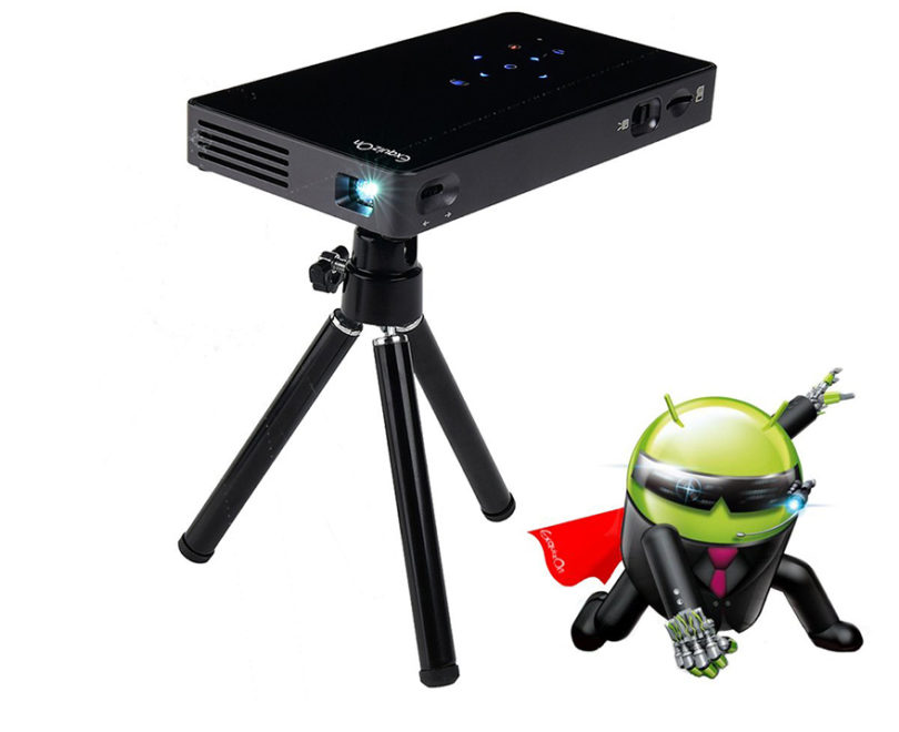 Vidéoprojecteur HD, ExquizOn P8I Mini Vidéoprojecteur DLP Android
