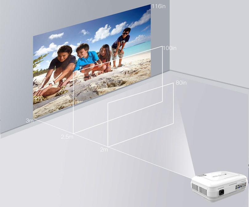 Vidéoprojecteur LESHP HD 1080P HD 3200 Lumens Led Mini LCD Projecteur