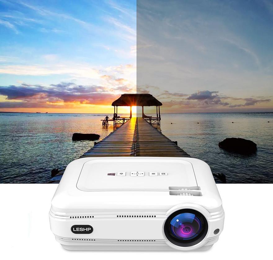 Vidéoprojecteur, LESHP HD 1080P HD 3200 Lumens Led Mini LCD