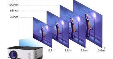 OMAS Vidéoprojecteur HD 1080P 1800 Lumens Led Mini LCD Projecteur de Cinéma Privé