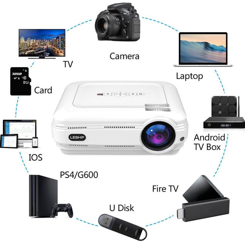 Vidéoprojecteur pas cher LESHP HD 1080P HD 3200 Lumens