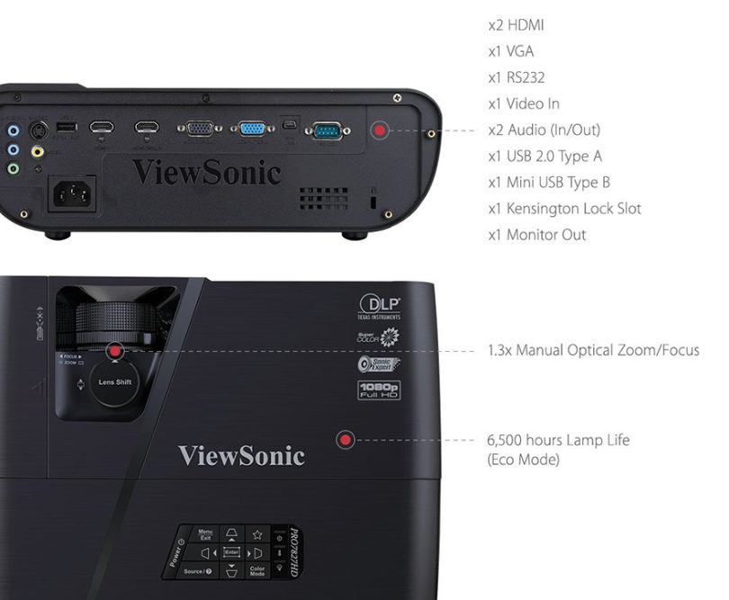 ViewSonic LightStream Pro7827HD Vidéoprojecteur LED