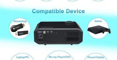 Artlii Vidéoprojecteur LED - Compatible 1080p