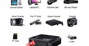 Artlii Vidéoprojecteur LED - Compatible 1080p - equipement