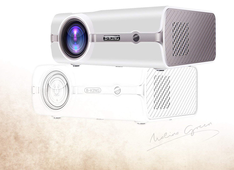 BeamerKing Vidéoprojecteur LED Portable 2200 Lumens