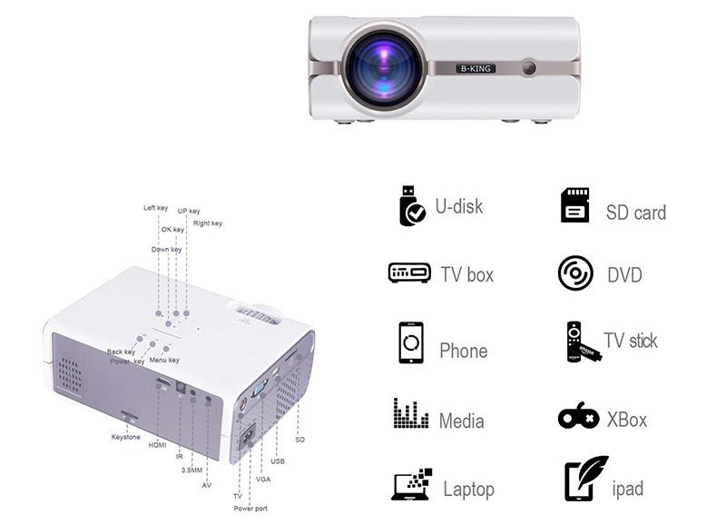 BeamerKing Vidéoprojecteur Projecteur LED Portable