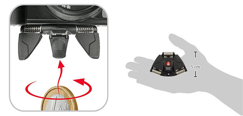 Manfrotto MP3-BK Tr/épied de poche Noir 1,5 kg