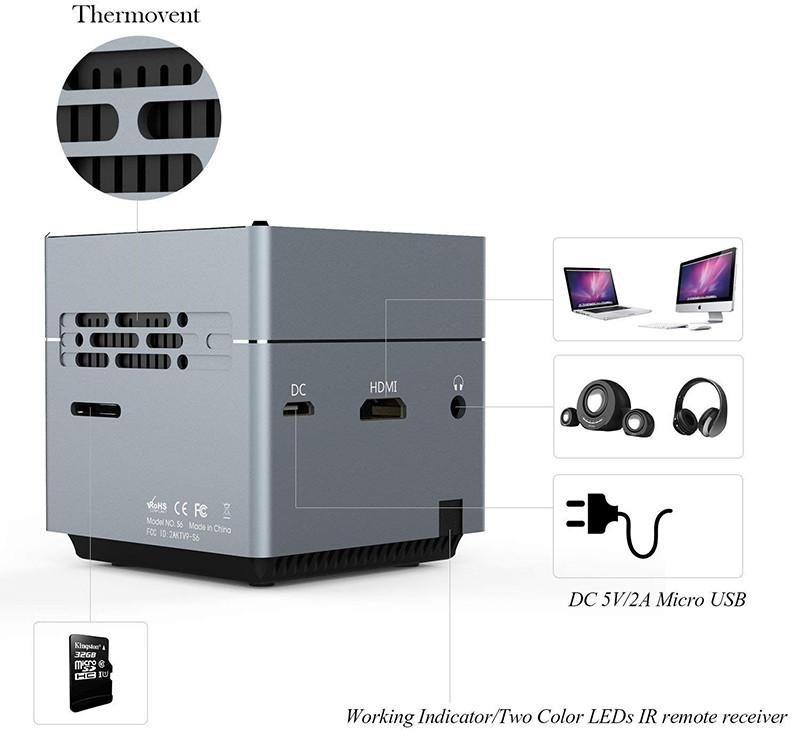 Tenker S6 Mini Cube - confort d'utilisation - pico projection