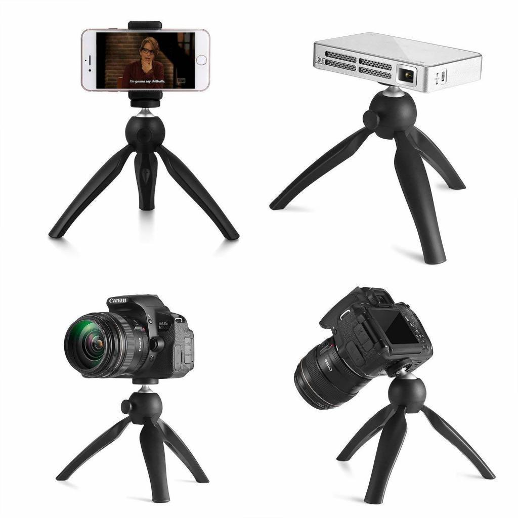 WOWOTO K3 Mini Trépied de Table avec 360 Degrés Tête pour Projecteur, Smartphone, Appareil Photo de Canon Nikon Sony etc.