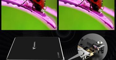 Mini Vidéoprojecteur, Tenswall Android7.1 Portable Projecteur WiFi DLP Projecteur