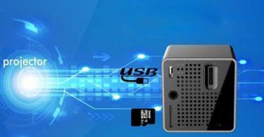 Vidéoprojecteur LCD Coloré Mini vidéoprojecteur WiFi