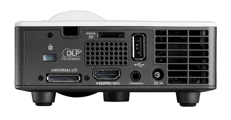 Vidéoprojecteur Optoma ML1050ST, LED Courte focale Ultra Compact (420g) - Vue Arrière