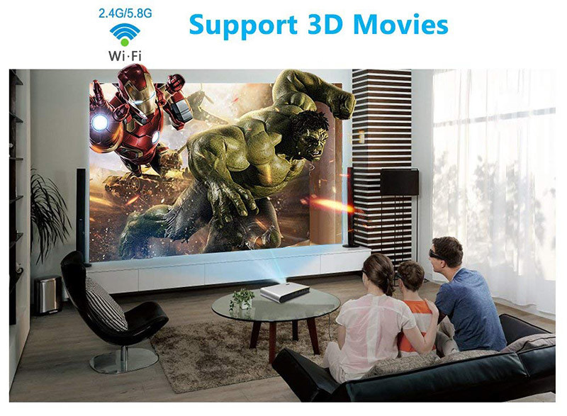 WOWOTO DLP Mini Projector 3D Full HD LED Projector 3200 Lumens - 3D