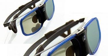 BOBLOV 3D Glasses Lunettes 3D DLP Link Rechargeable