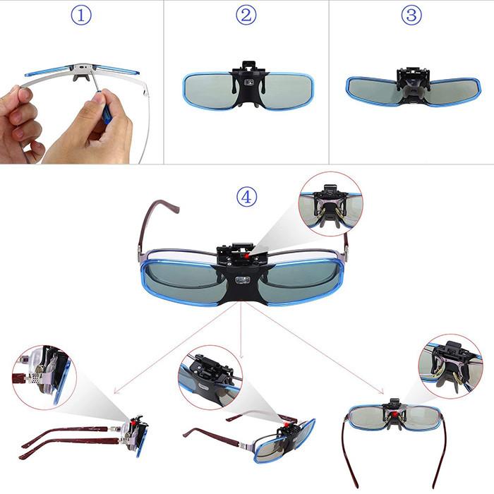 BOBLOV 3D Glasses Lunettes 3D DLP-Link Rechargeable