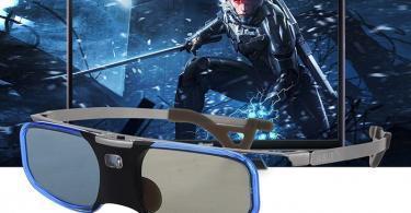 BOBLOV 3D Glasses, Lunettes 3D DLP-Link Rechargeable Design Léger