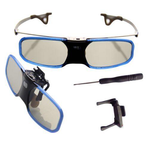 BOBLOV 3D Glasses, Lunettes 3D DLP-Link Rechargeable