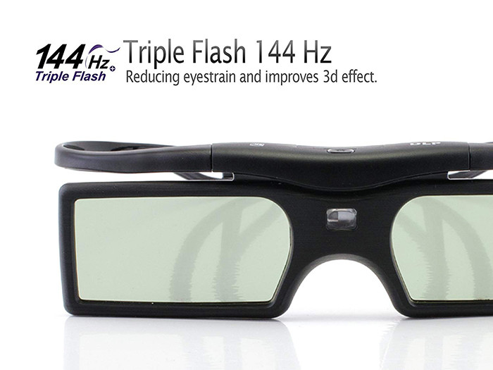 Cinemax - paire de lunettes 3D DLP-Link Gravity - Compatible uniquement avec les vidéoprojecteurs 3D
