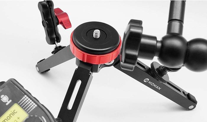 Moman Mini Camera Trépied Compact, Charge max 10KG, Plaques Table de Voyage Léger avec Adaptateur de plateau rapide