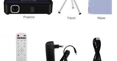 OTHA Vidéoprojecteur Wifi, Mini Projecteur Portable - pico projecteur