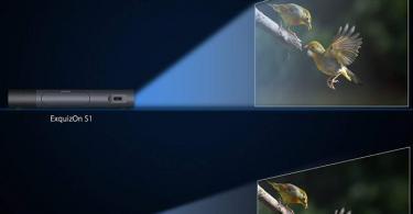 Pico Projecteur Vidéoprojecteur Full HD, ExquizOn S1 Mini Projecteur