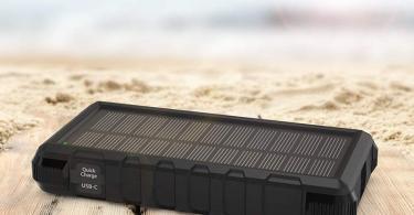 Chargeur Solaire Portable RAVPower 25000mAh avec Entrées Micro-USB