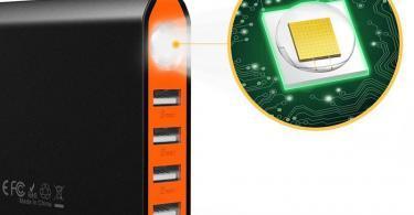 EasyAcc 26000mAh Batterie Externe PowerBank 4 Ports de Sortie et 2 Ports d'Entrée