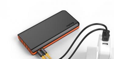 EasyAcc 26000mAh Batterie Externe PowerBank 4 Ports de Sortie et 2 Ports d'Entrée avec Lampe de Secours pour Smartphones et Tablettes