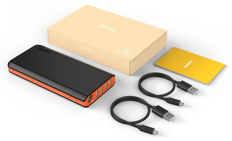 EasyAcc 26000mAh Batterie Externe PowerBank 4 Ports