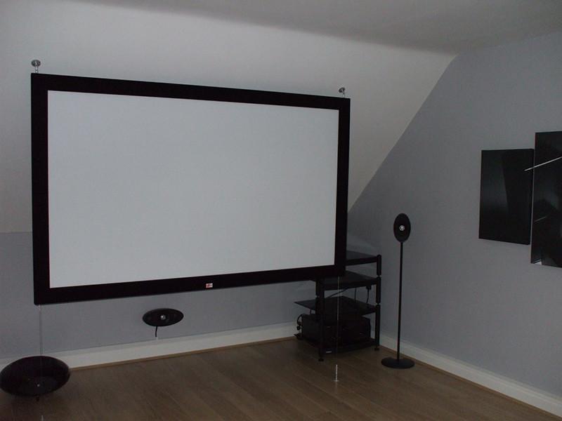 Les matériaux de fabrication de l'écran de projection