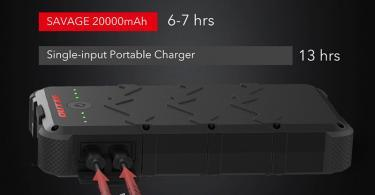 OUTXE Charge Rapide 20000mAh Chargeur Solaire