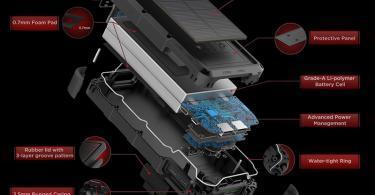OUTXE Charge Rapide 20000mAh Chargeur Solaire Batterie Externe Robuste