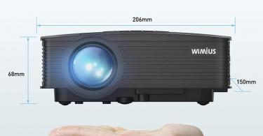 WiMiUS Mini Vidéo Projecteur Portable LCD 2600 Lumens Rétroprojecteur