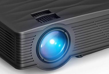 WiMiUS Mini Vidéo Projecteur Portable LCD Rétroprojecteur