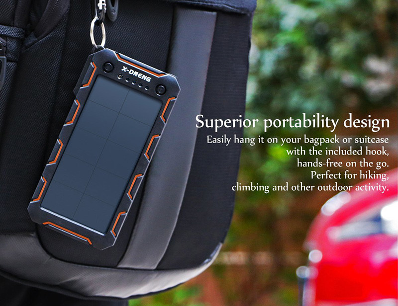X-DNENG Chargeur Solaire Power Bank Solaire Batterie Externe Solaire 15000mAh