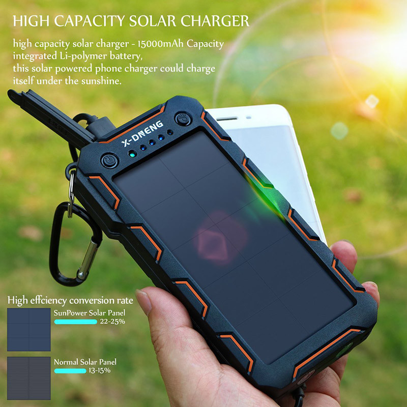 X-DNENG Chargeur Solaire Power Bank Solaire