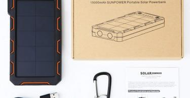 X-DNENG Chargeur Solaire PowerBank Batterie Solaire