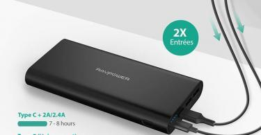 USB C RAVPower Chargeur Portable 26800mAh