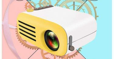 Teepao Vidéo Projecteur Projecteur - 1080P Full HD Mini - Multimédia Retroprojecteur