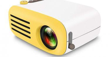 Teepao Vidéo Projecteur Projecteur - 1080P Full HD Mini - Multimédia Retroprojecteur Portable LED